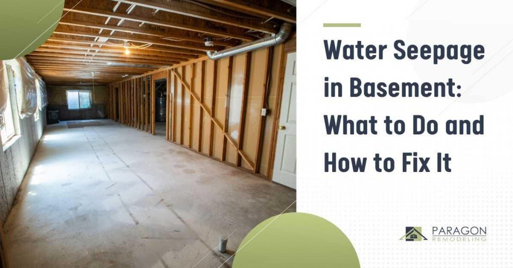 Water Seepage In Basement: What to Do and How to Fix It