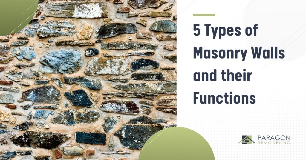 5 Types of Masonry Walls and their Functions
