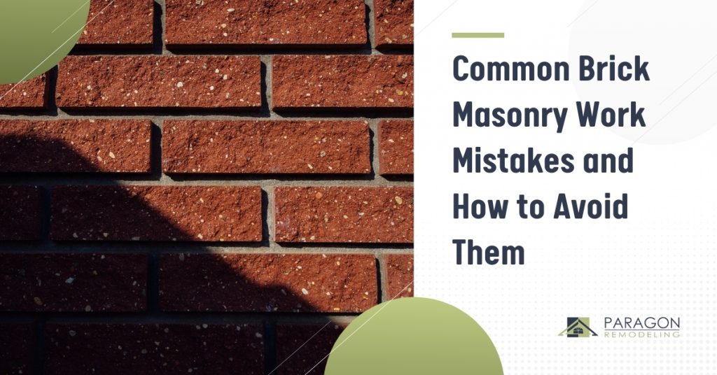 5 Common Brick Masonry Work Mistakes and How to Avoid Them